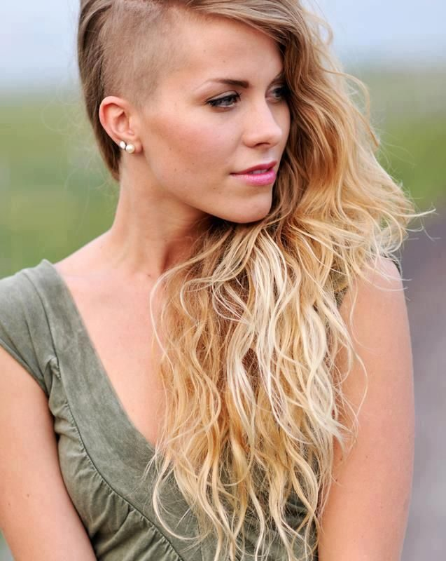Holiday hairstyles for shaved sides!