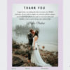 Thank you page of bridal template